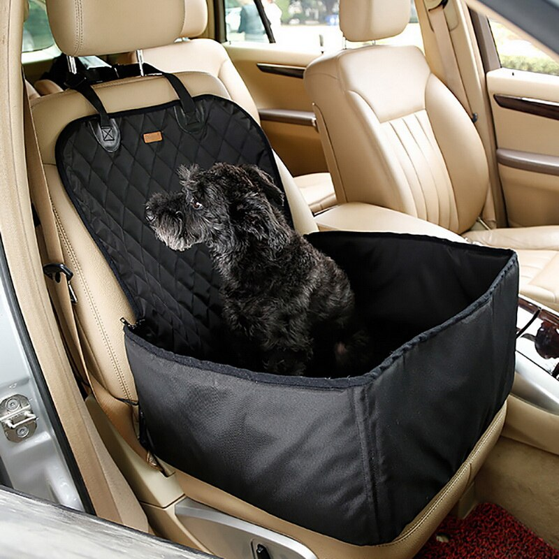 2-in-1 Pet Car Booster Front Seat Cover for Dog Cat Travel Portable Dog Seat Protection Non-Slip Safety Belt Waterproof Tool - Common Panda