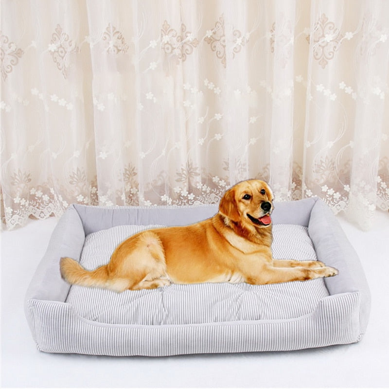 1Pcs Pet Dog Bed 4 Seasons Soft Mat Kennel Puppy Warm Bed Plush Cozy Nest For Small Medium Large Dog House Pad Pet Supplies