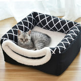 Pet Cat Dog Nest Dual Use Warm Soft Sleeping Bed Pad For Pet Non-slip Breathable Cat House Dog Sleeping Washable Mat Blanket - Common Panda