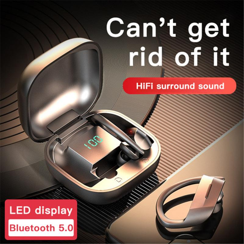 Bluetooth Earphone TWS Wireless Headphones Headsets With Microphone Sports Stereo Charging Box Digital display For Android - Common Panda