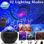 32 Color sky projector Versatile Star Projector Romantic rotating atmosphere Starlight Music galaxy Night Lights - Common Panda