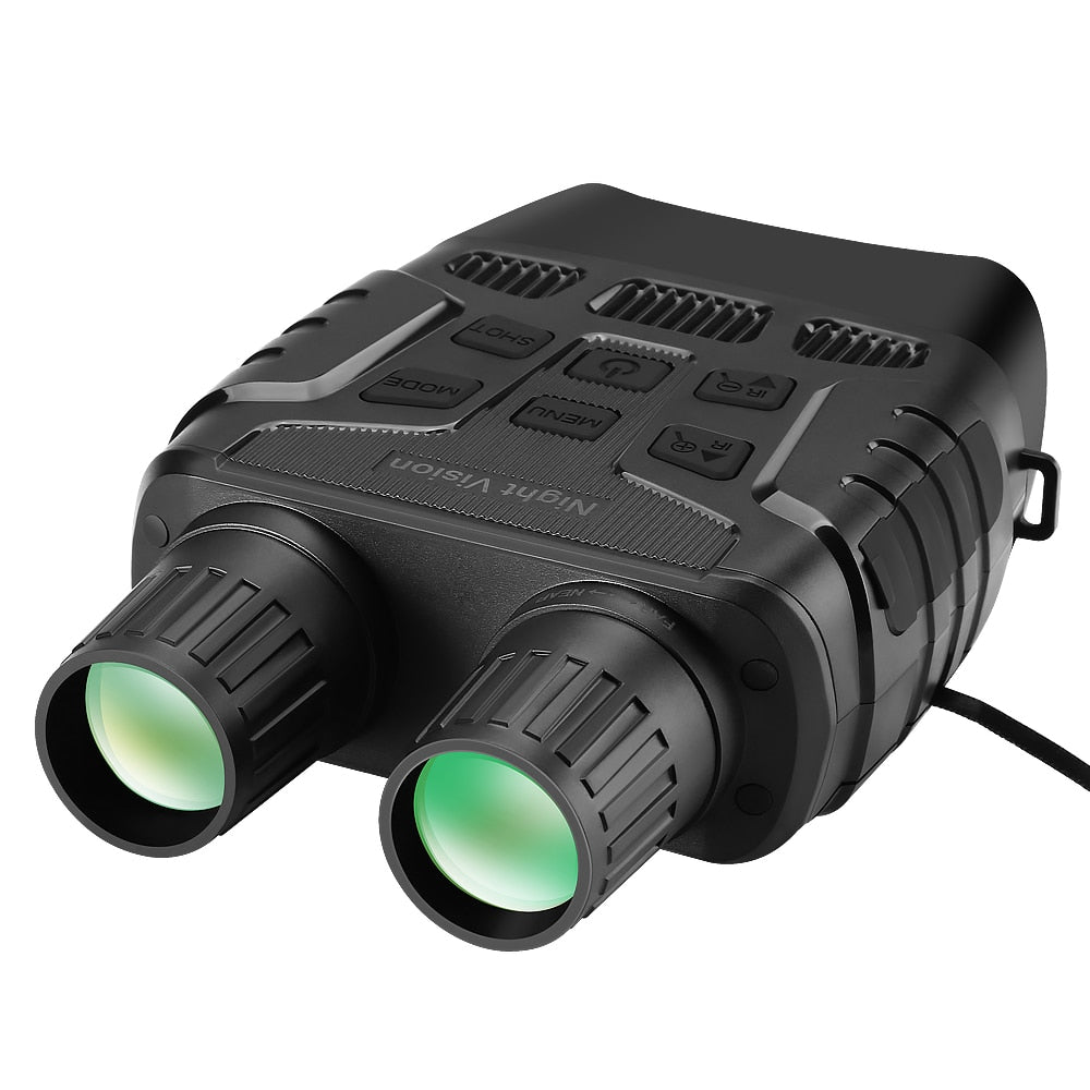 Night Vision Device Binoculars 300 Yards Digital IR Telescope Zoom Optics with 2.3' Screen Photos Video Recording Hunting Camera - Common Panda