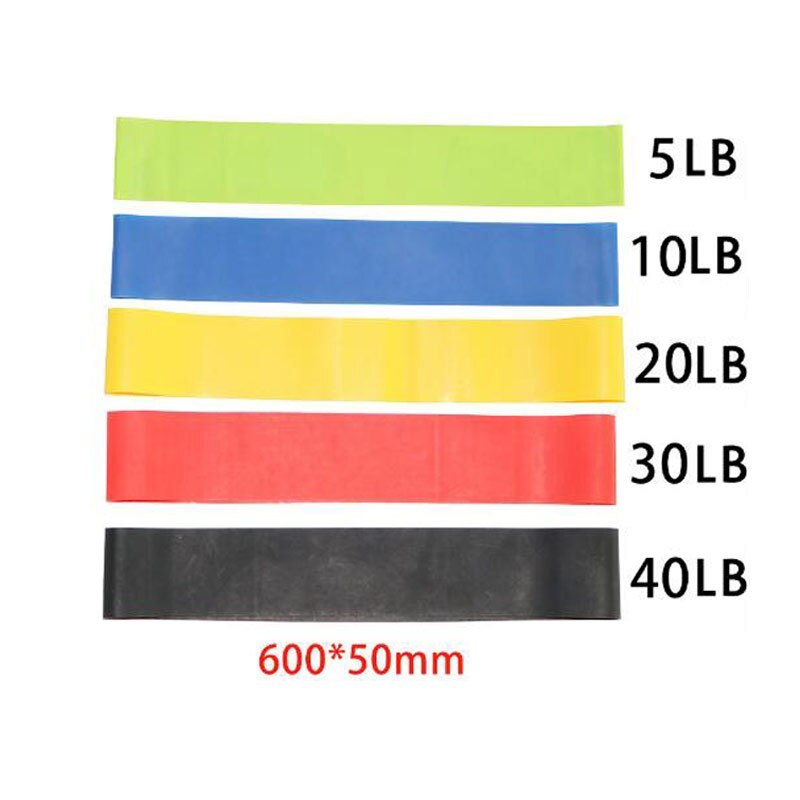 5 Colors Yoga Resistance Rubber Bands Sports Training Workout Elastic Bands Fitness Gym Equipment Crossfit Yoga Ropes Free Ship - Common Panda