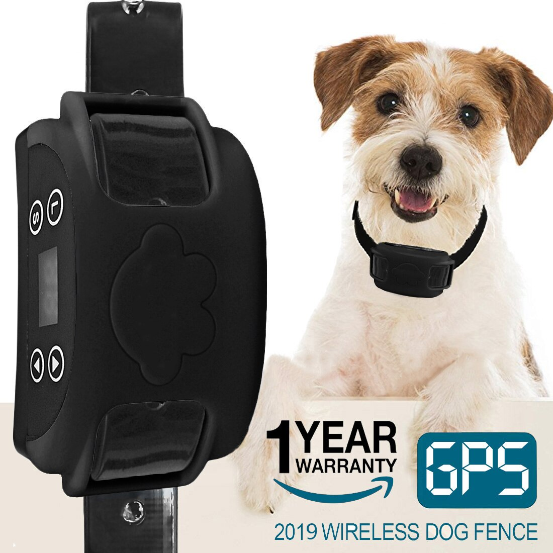 2020 All New Hot Wireless Electric Dog Fence GPS Outdoor Containment System Transmitter Collar Rechargeable Waterproof - Common Panda