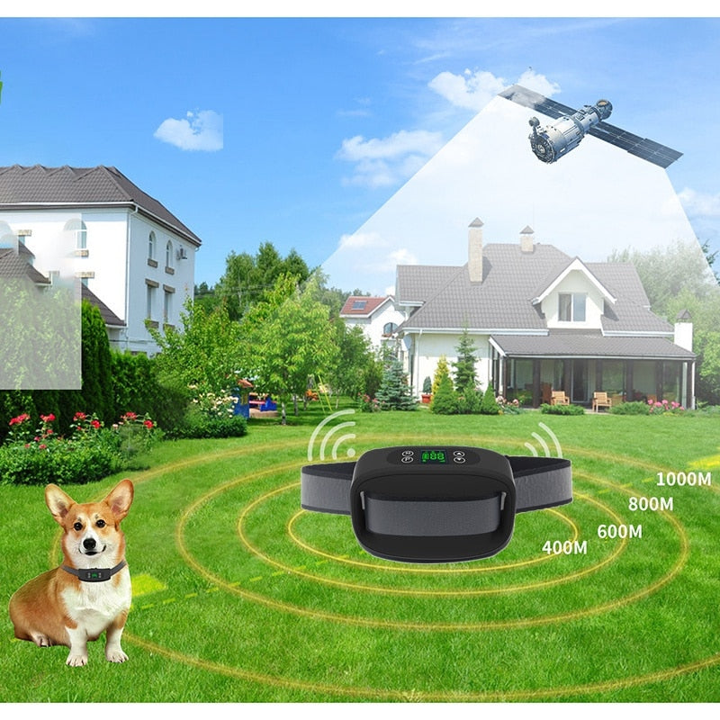 Dog Fence Wireless & Training Collar Outdoor, Electric Wireless Fence for Dogs with Remote, Adjustable Range Control, Waterproof - Common Panda