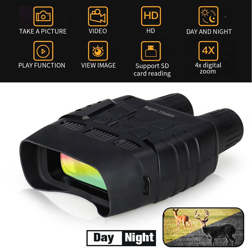 EAGLEEYE NV3182 With WIFI IR LED 4X Digital Zoom F1.2 Aperture 960P HD  Night Vision Binoculars HS27-0028 - Common Panda