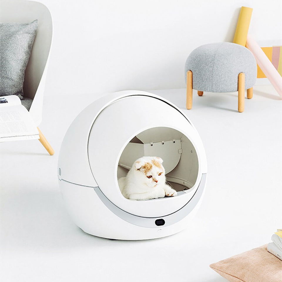 Automatic Self Cleaning Cats Sandbox Smart Litter Box closed - Common Panda