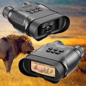 APEXEL Night Vision Binoculars Digital IR Telescope Zoom Optics HD Infrared Day And Night Vision For Hunting Video Recording - Common Panda