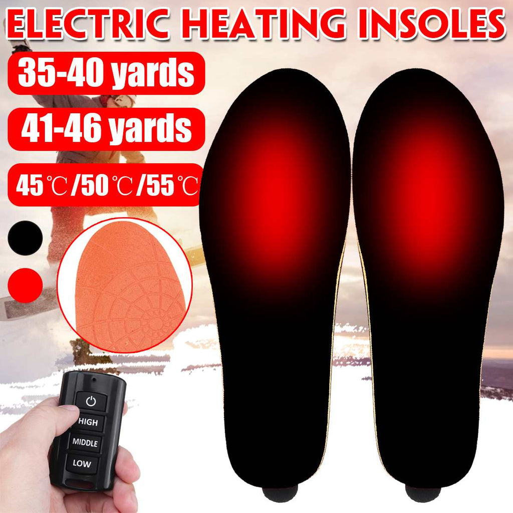 1900mAh USB Heated Shoe Insoles Feet Warm Sock Pad Mat Electrically Heating Insoles Washable Warm Thermal Insoles