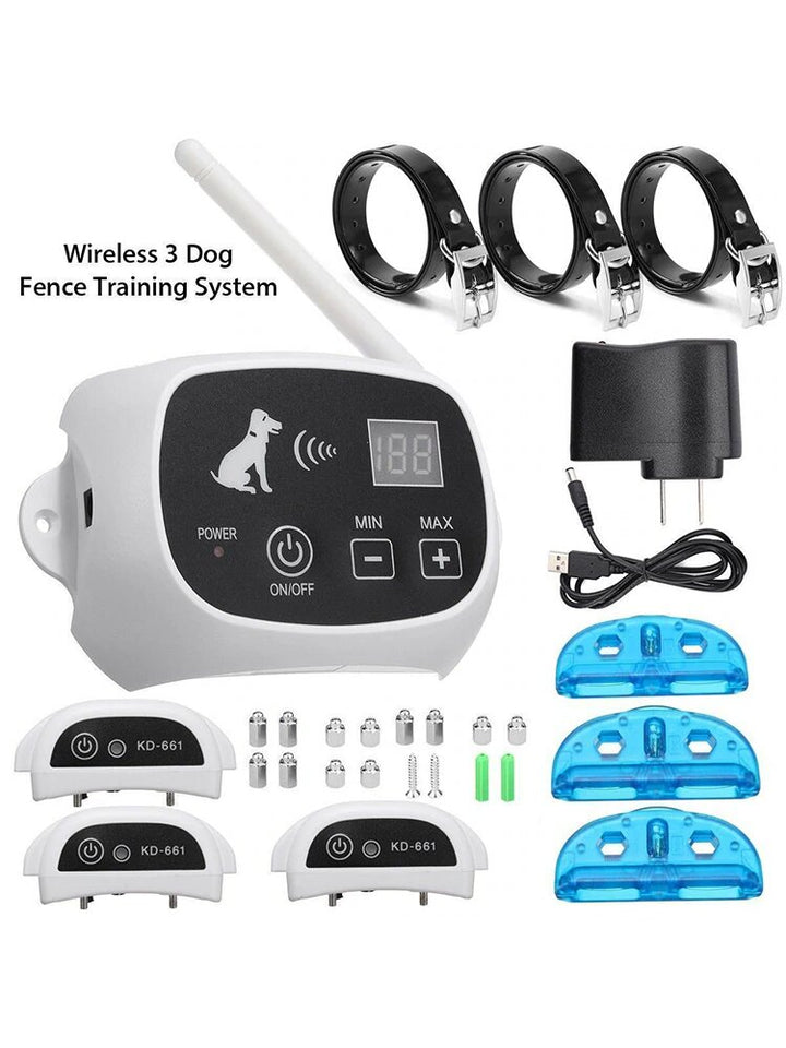 Wireless Electric Dog Fence System with Multiple Collar - Common Panda