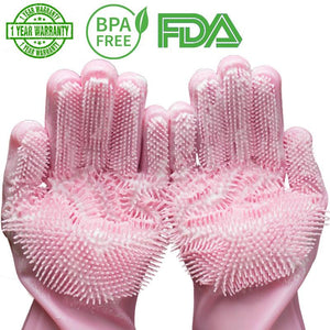 Environmentally friendly scrubbing gloves - Common Panda