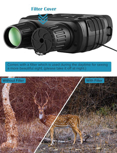 HD Digital Night Vision Binoculars with LCD Screen Infrared (IR) with Camera - Common Panda