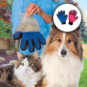 Deshedding Pet Grooming Glove - Common Panda