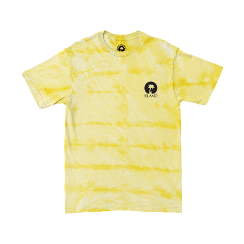 YELLOW TIE-DYE T-SHIRT