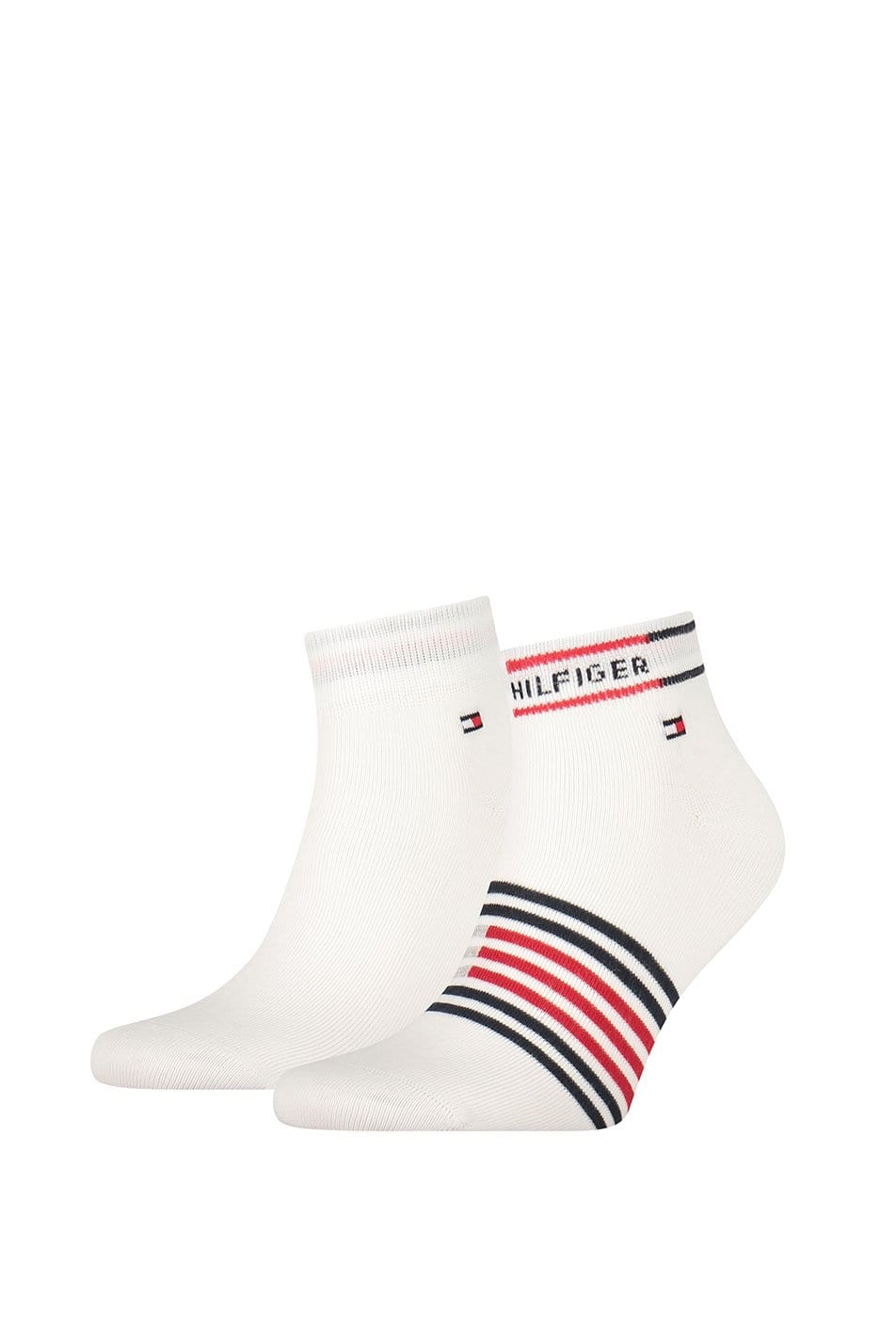 Tommy Hilfiger 2 Pack Breton Stripe Quarter Socks