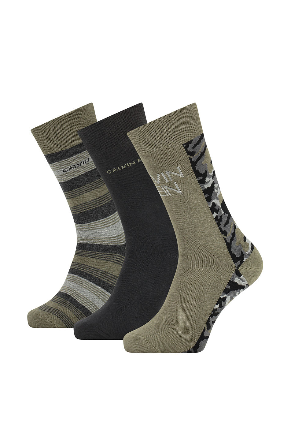 Calvin Klein 3 Pack Camo Crew Connor Socks