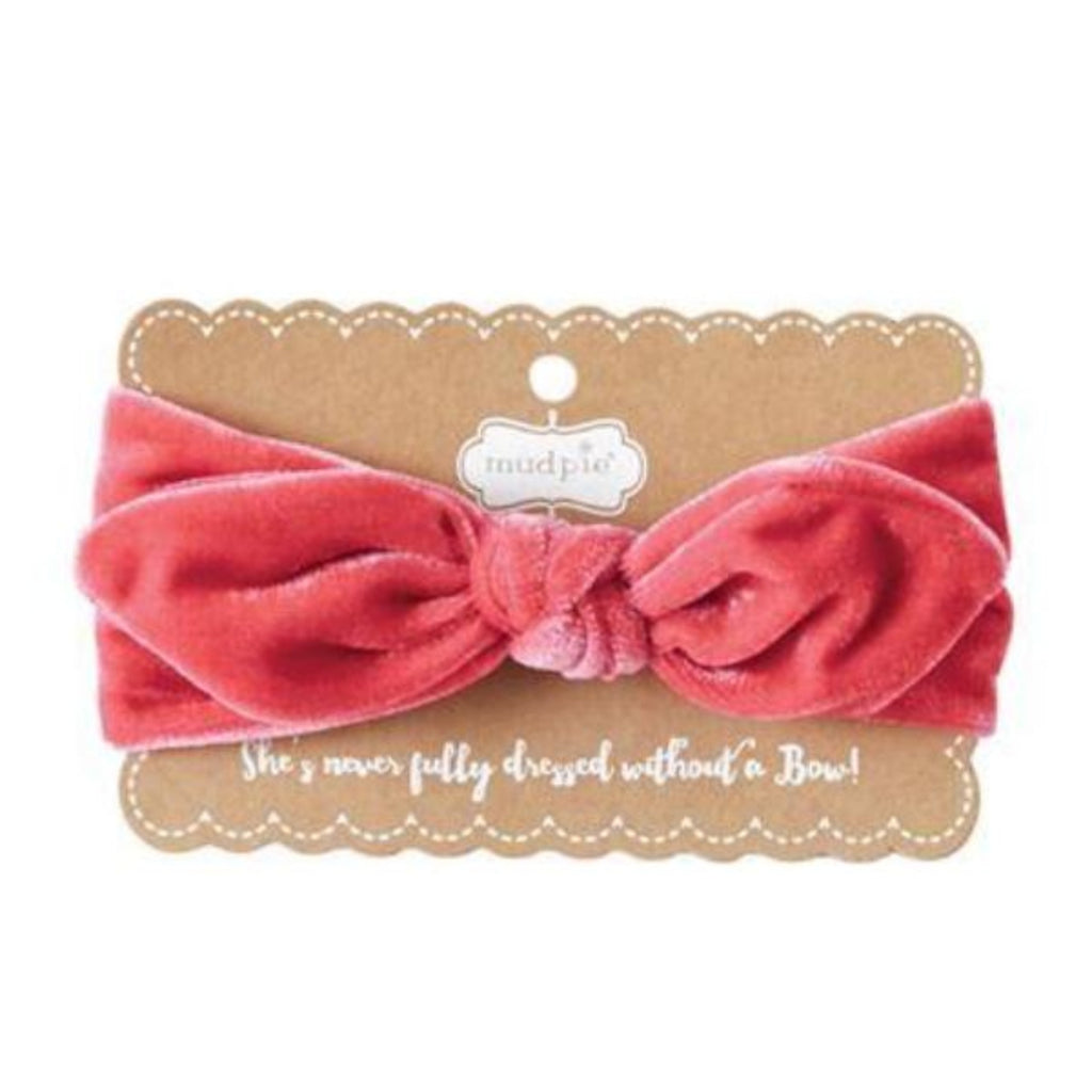 Hot Pink Velvet Bow Headband