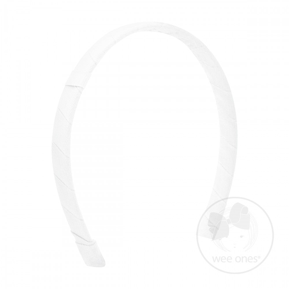 White Add-A-Bow Hard Headband Wee Ones