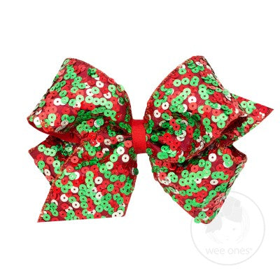 Wee Ones King Sequin Taffeta Bow