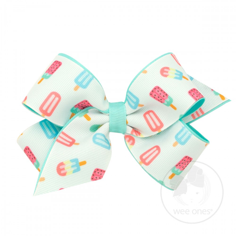 Popsicle Medium Printed Bow Wee Ones