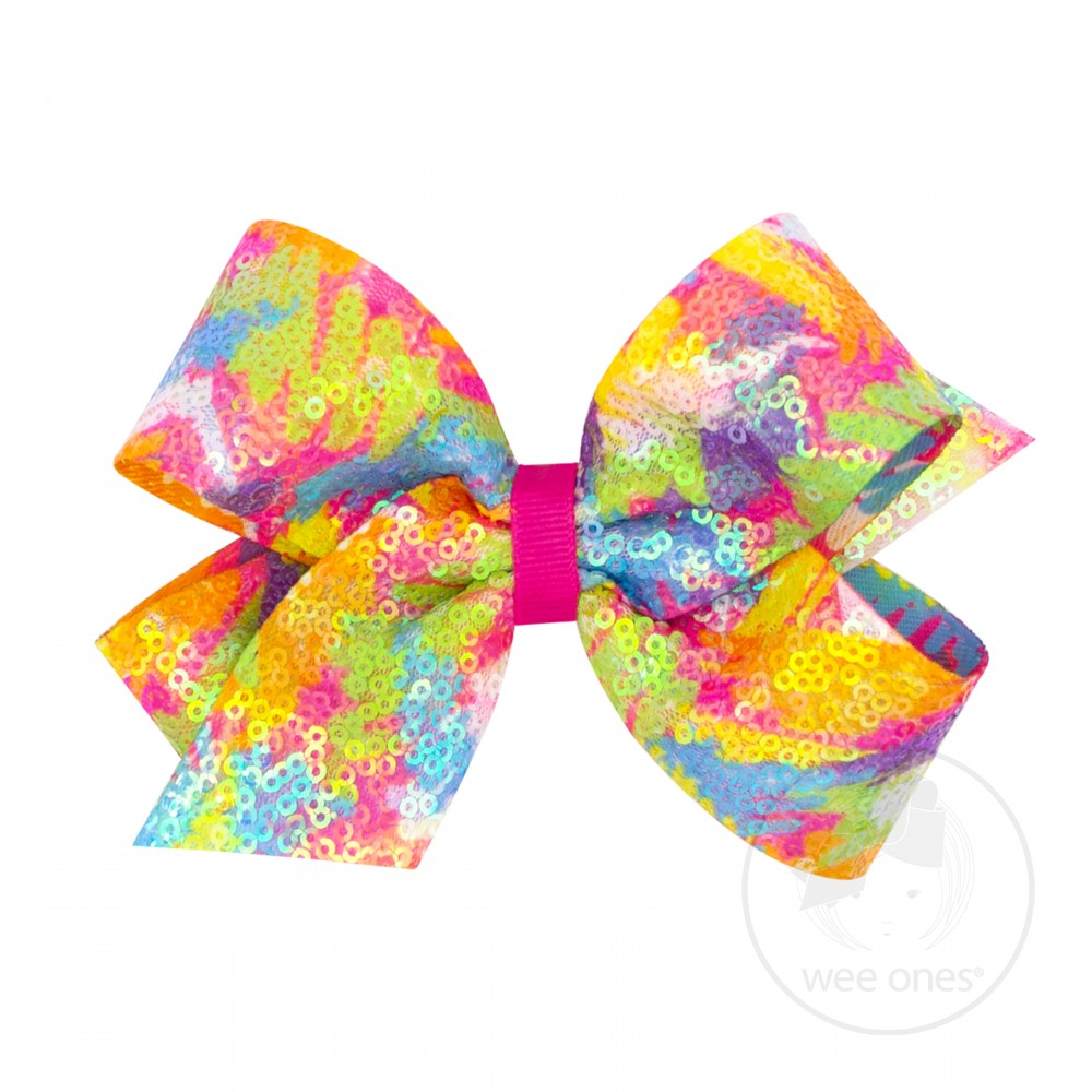 Bright Sequin Scribble Bow Wee Ones