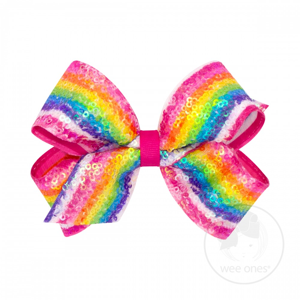Bright Sequin Stripe Bow