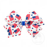 Flag Print Medium Bow Wee Ones