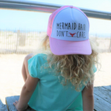 "Grom Squad pink or black ""mermaid hair don't care girls hat"