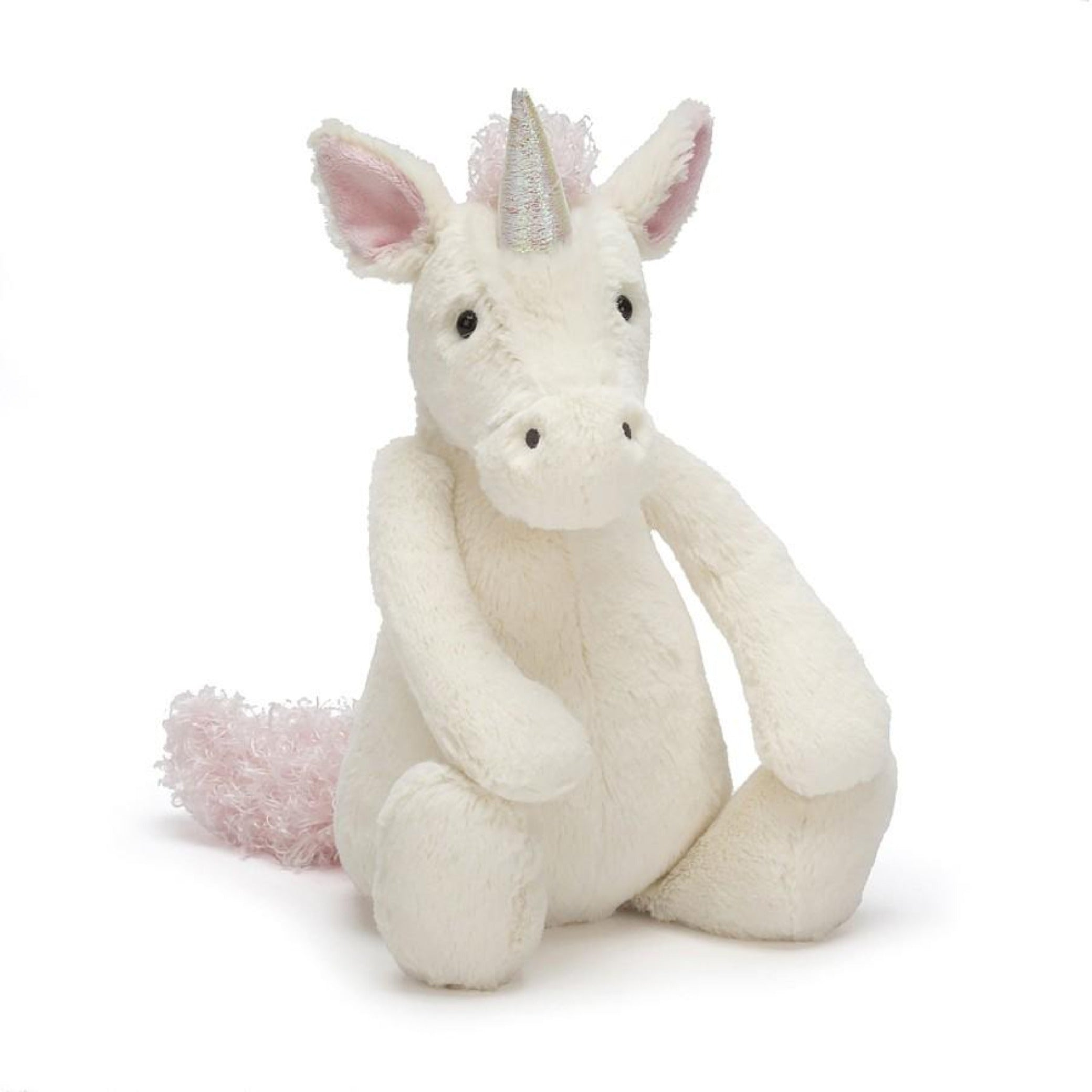 JellyCat white medium plush unicorn toy