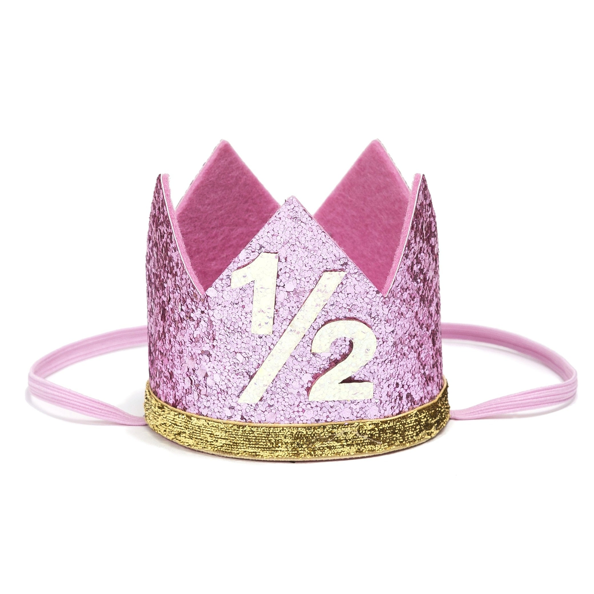 Sweet Wink 1/2 pink sparkle birthday crown