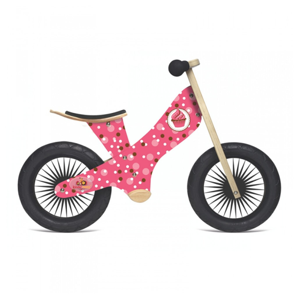 KinderFeet pink girls cupcake balance bike