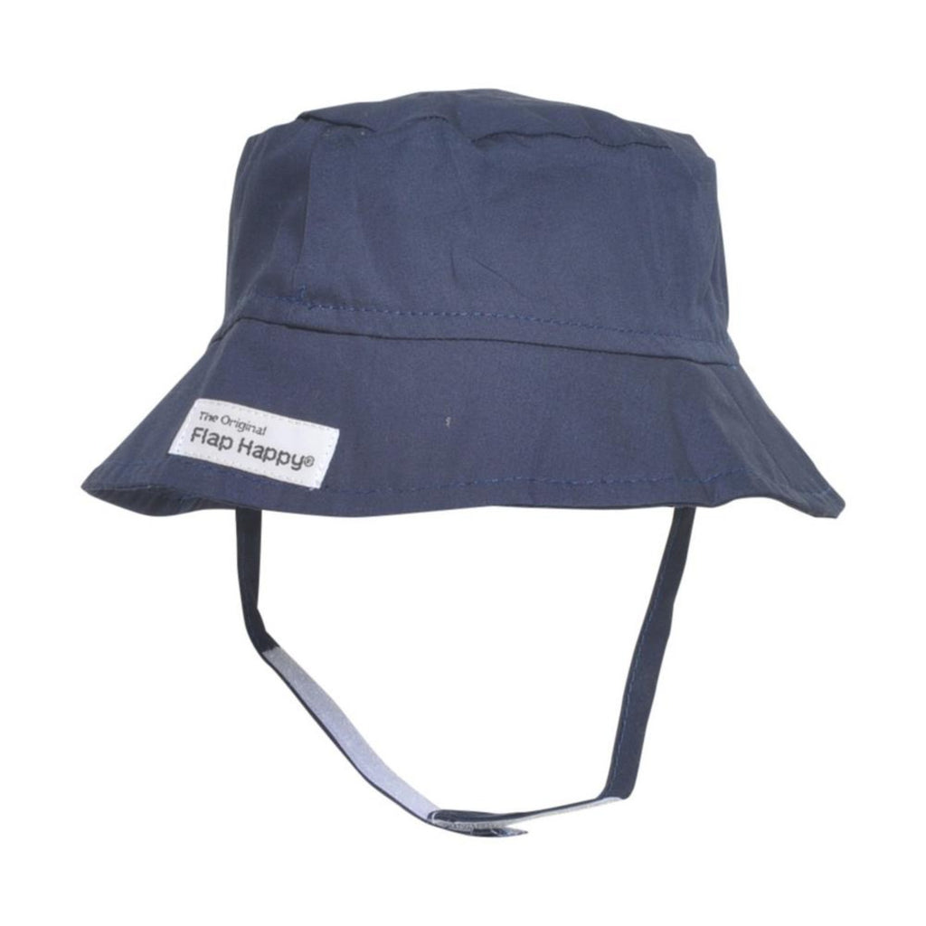 Flap Happy blue nautical sun hat with chin strap