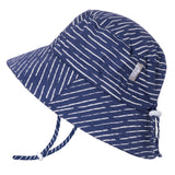 Cotton Bucket Hat Navy Waves Jan & Jul