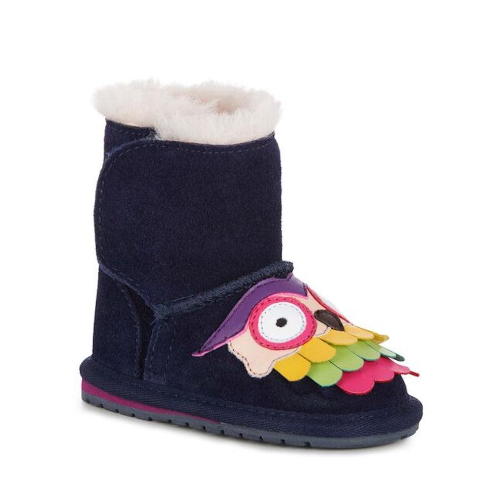 Navy Midnight Owl Girls Boots Emu Australia