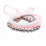 Pearly to Wed Bracelet 4 pc Set