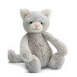 JellyCat plush small grey kitty toy