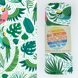 Luvbug tropical  sunscreen beach towel