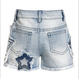 Denim Star Trim Shorts (Baby Girl)