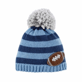 Mud Pie Blue Football Knit Hat