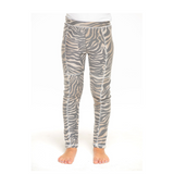 Chaser zebra striped girls leggings
