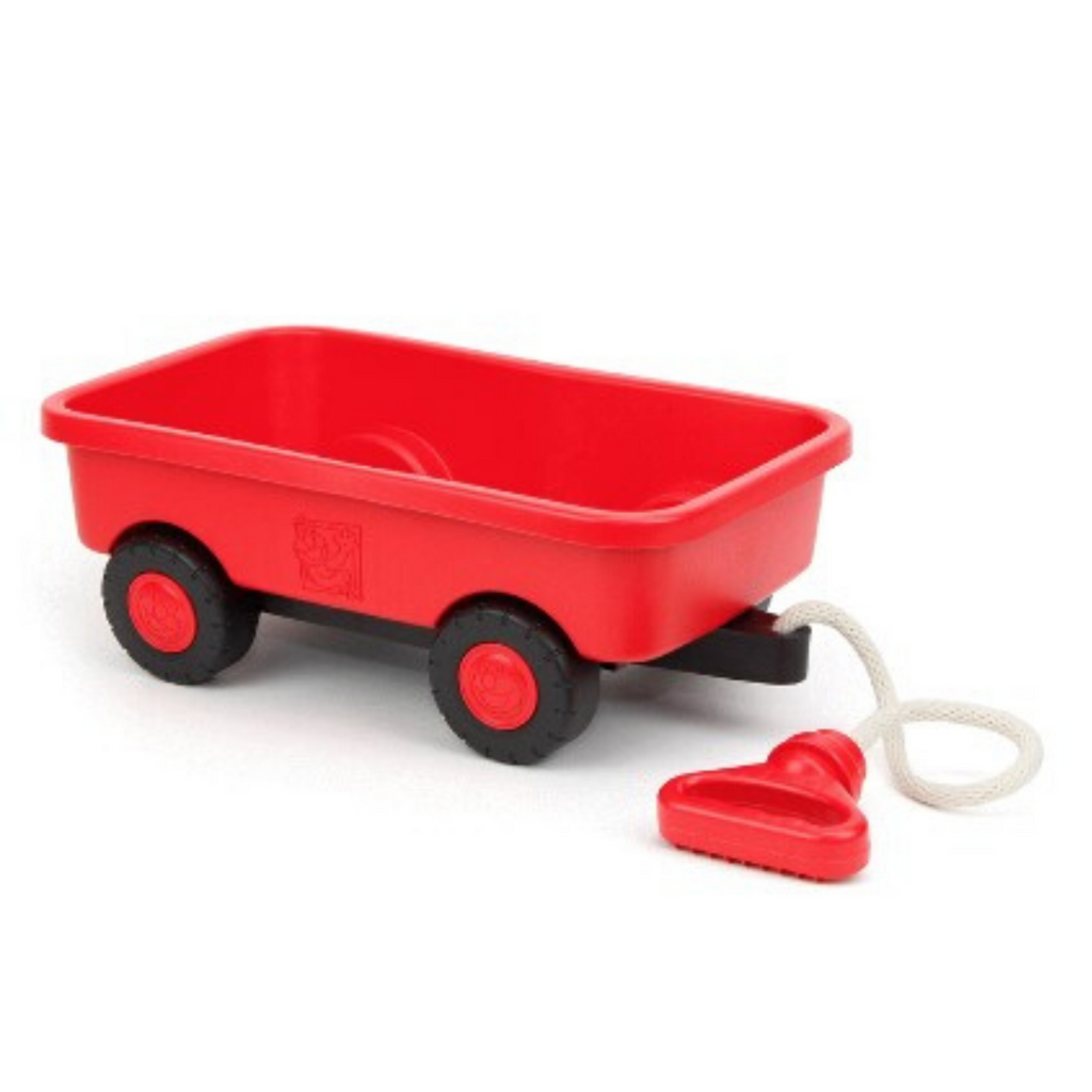 Green Toys play wagon with rope handle