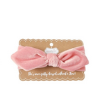 Mud Pie light pink velvet girls headband