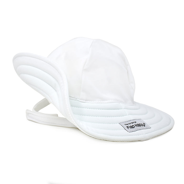 UPF50+ White Summer Splash Swim Hat (Baby + Toddler Girl)