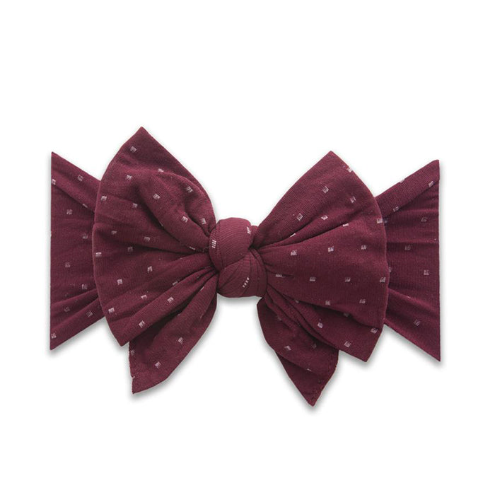 Baby Bling Dang Enormous Bow: burgundy dot