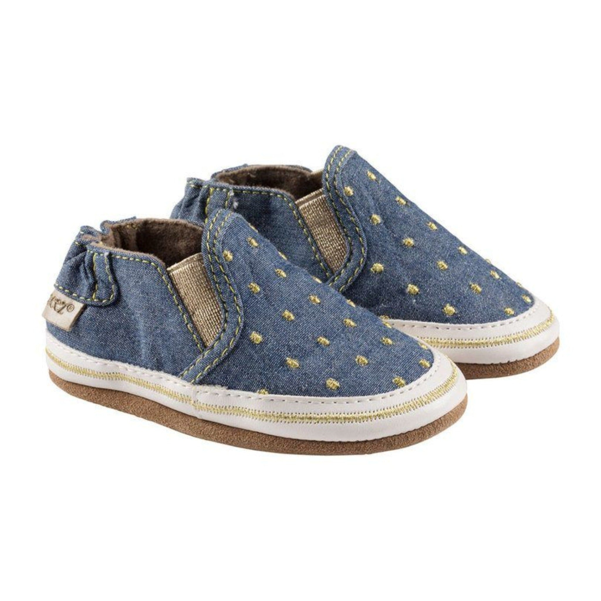 Robeez denim girls training shoes