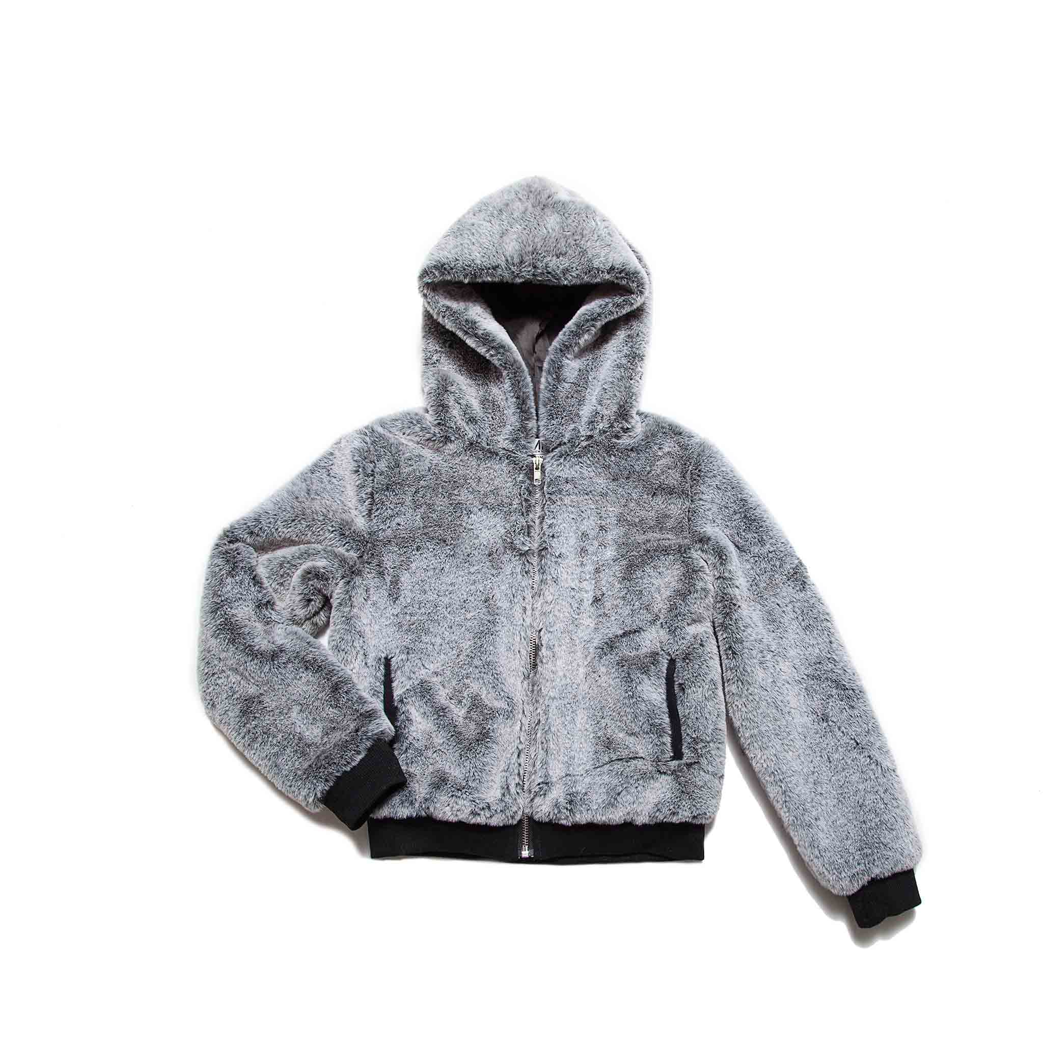 MIA girls mink grey cozy jacket