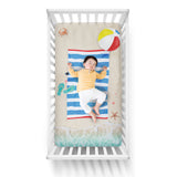 Luvsy Beach Baby Crib Sheet