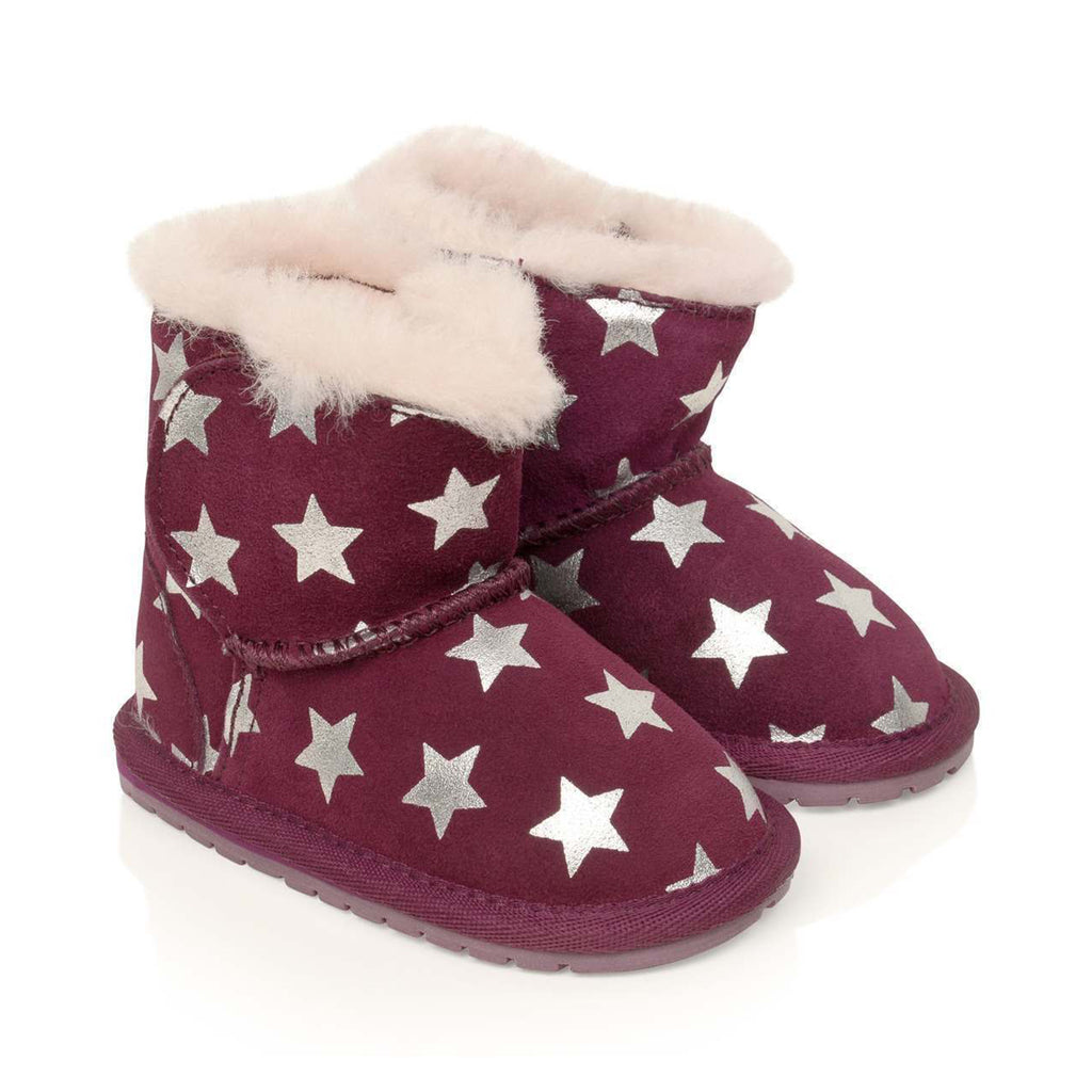 Plum Starry Night EMU girls Boots winter