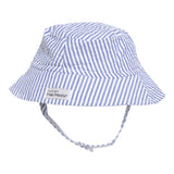 UPF50+ Chambray Stripe Seersucker Bucket Hat (Baby + Toddler Boy) Flap Happy