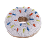 Pebblechild Knit White Donut Rattle